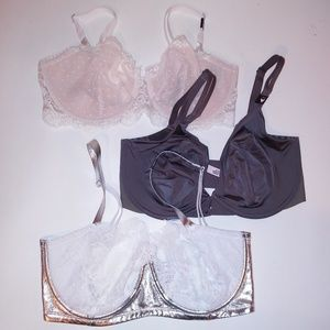 Set of 3 Victoria Secret Bras
